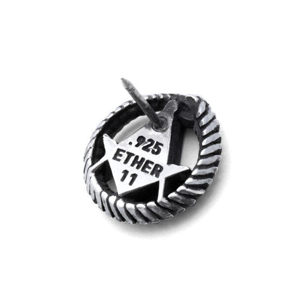 Ether11 Silver Square and Compass in Ouroboros Pin
