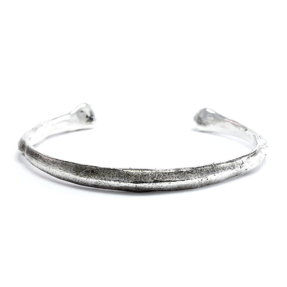 Ether11 Silver Bone Cuff Bracelet Made in USA