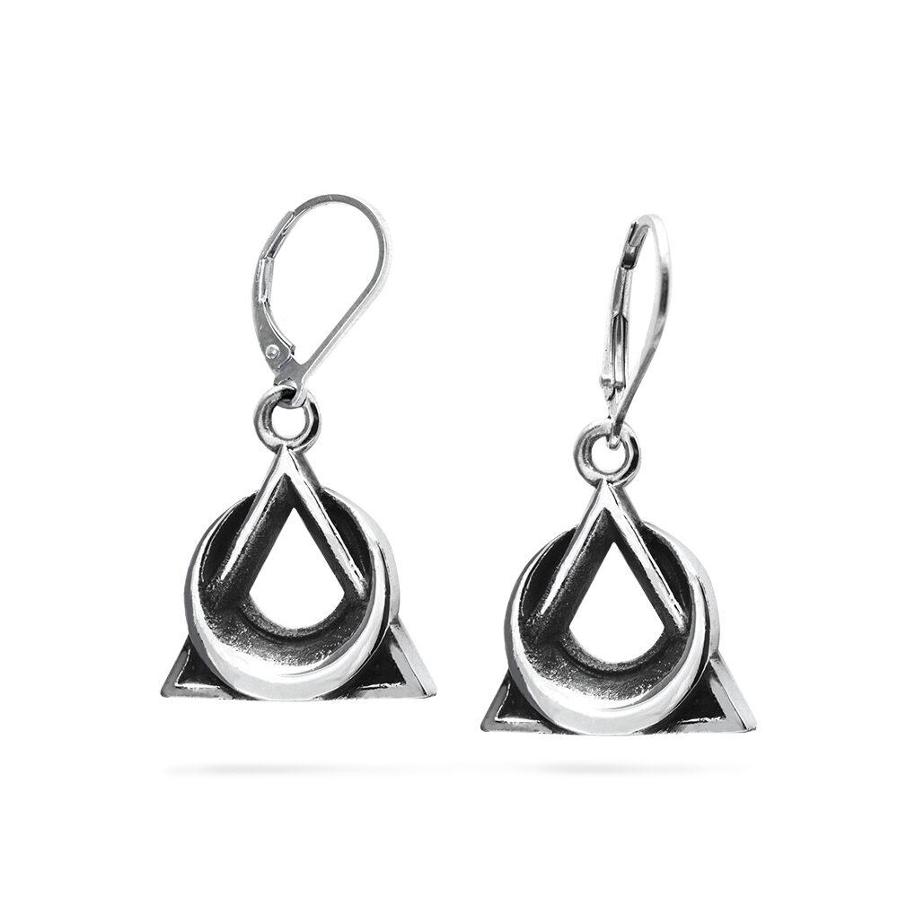 Ether11 Trinity Moon Earrings