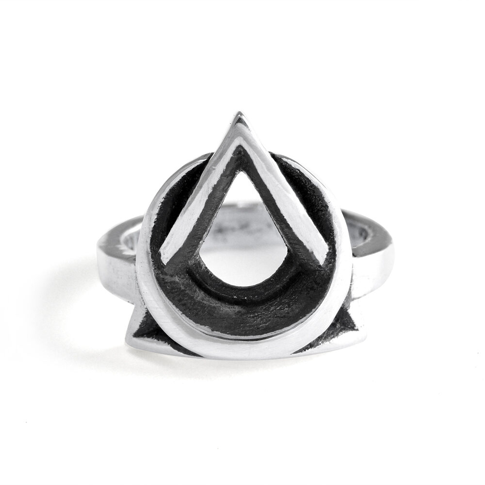 Ether11 Trinity Moon Ring