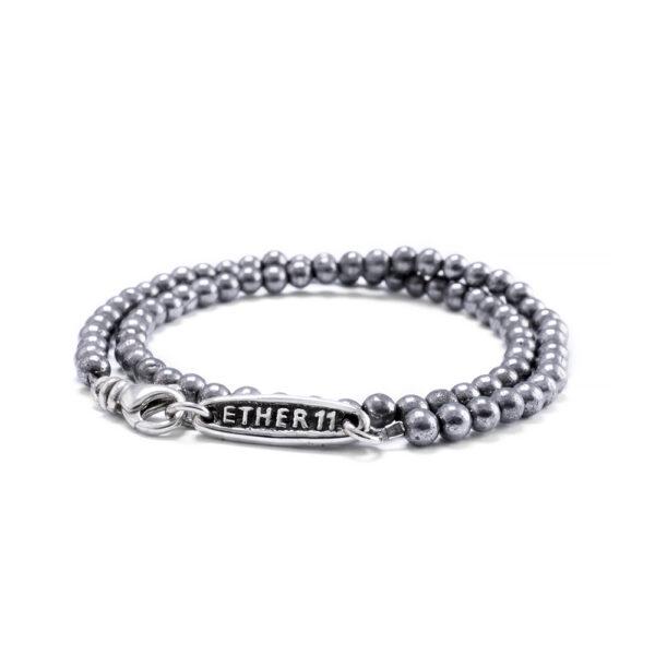 4mm Hematite Bead Bracelet Double Wrap