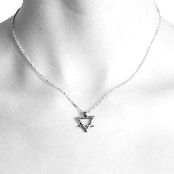 Ether11 Alchemy Symbol Earth Pendant
