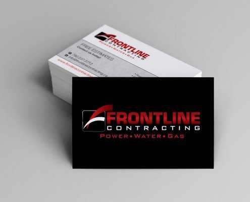 Edmonton Graphic Design | Frontline Contracting Business Card