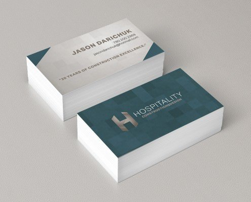 Edmonton Graphic Design | Hospitality Construction and Design Business Card