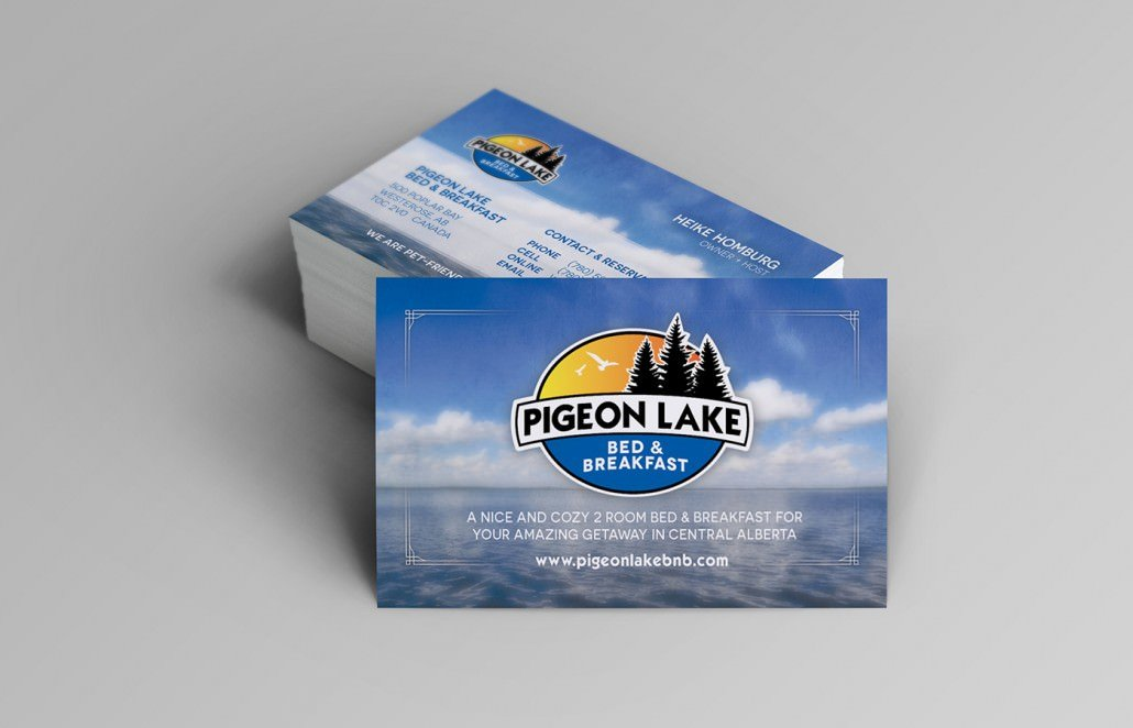 Edmonton Graphic Design for Pigeon Lake Bed and Breakfast Business Card