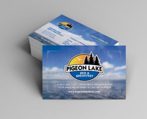 Edmonton Graphic Design | Pigeon Lake Bed and Breakfast Business Card
