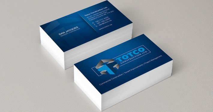 Edmonton Graphic Design | Totco Construction Business Card