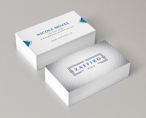 Edmonton Graphic Design | Zaffiro Apparel Business Card