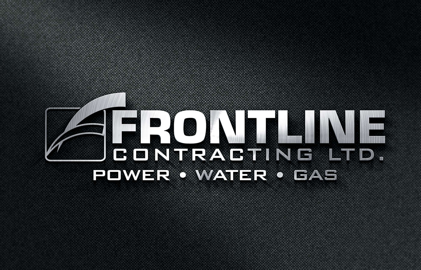 Edmonton Graphic Design | Frontline Contracting Logo