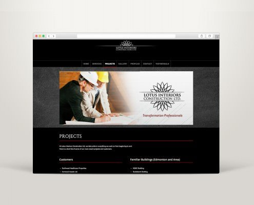 Edmonton Website Design | Lotus Construction Website