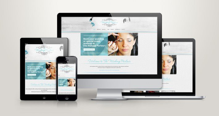 Edmonton Website Design | The Makeup Parlour Website