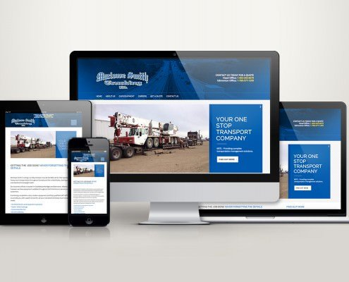 Edmonton Website Design | Marlowe Smith Trucking Website