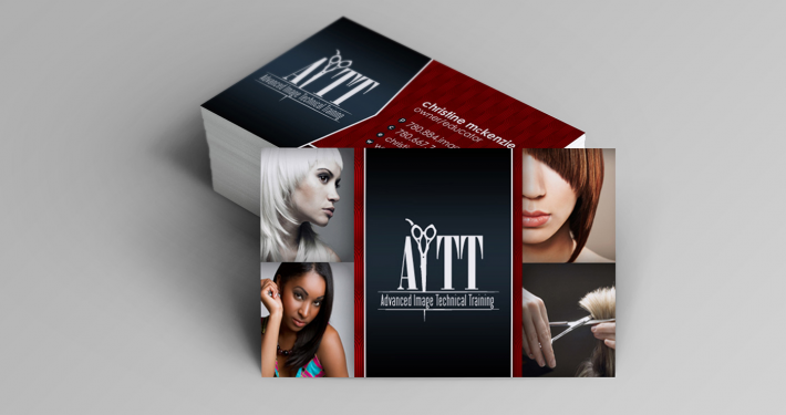 Edmonton Graphic Design | Advanced Image Technical Training Business Card