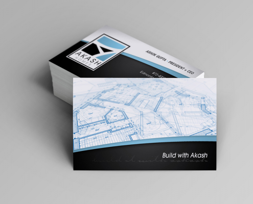 Edmonton Graphic Design | Akash Homes Business Card
