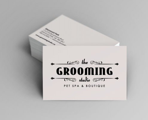 Edmonton Graphic Design | The Grooming Studio Business Card