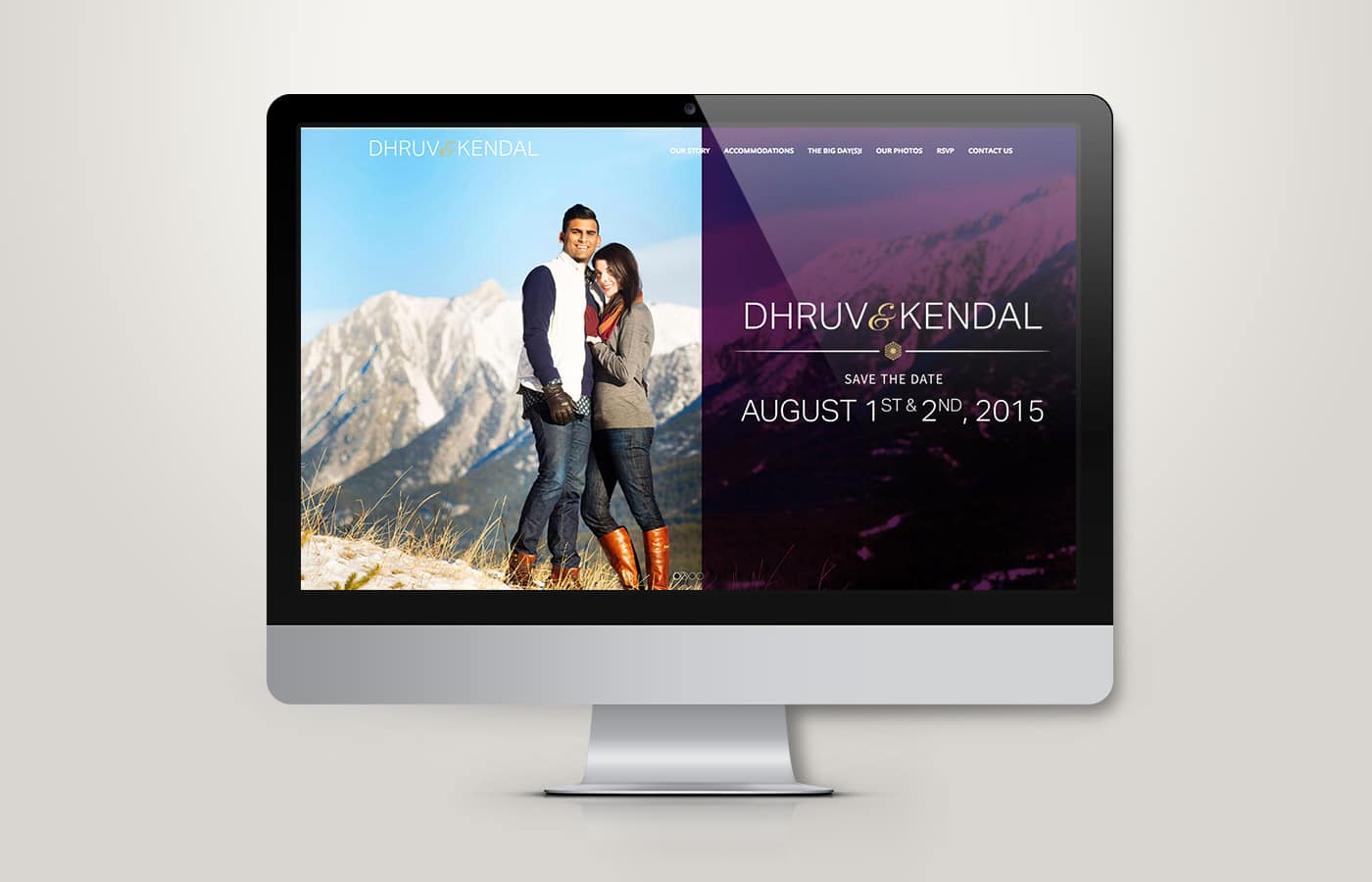 Edmonton Website Design | Dhruv and Kendal Wedding Website