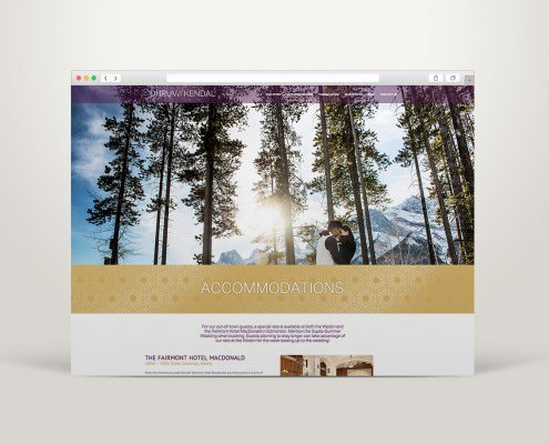 Edmonton Graphic Design | DK Wedding Website