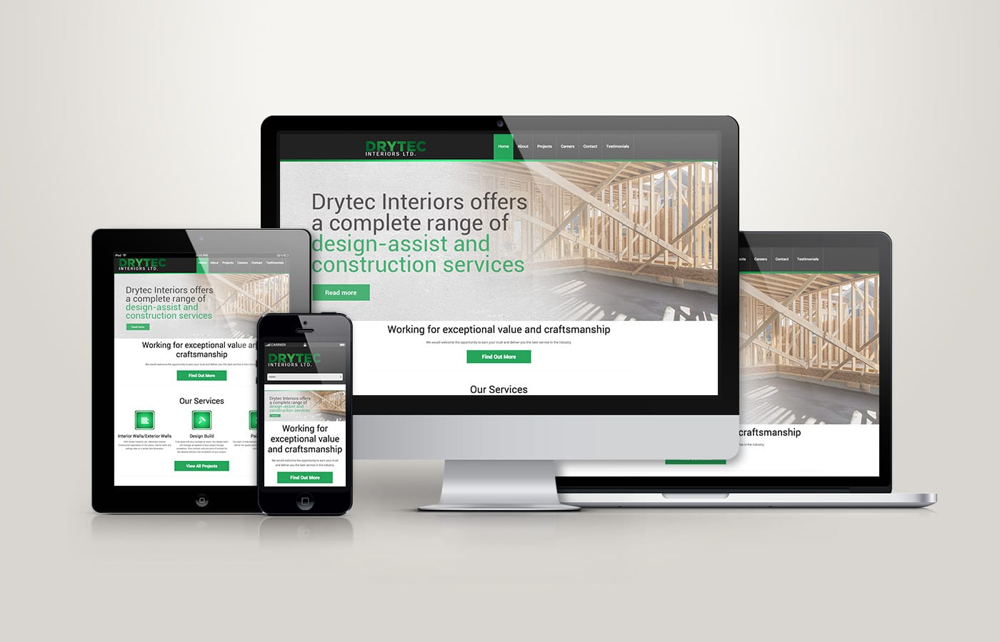 Edmonton Website Design | Drytec Interiors Website