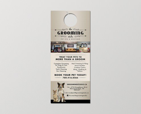Edmonton Graphic Design | The Grooming Studio Door Hanger