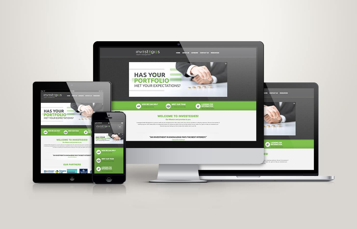 Edmonton Website Design | Investegies Wealth Management Website