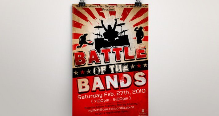 Edmonton Graphic Design | Battle of the Bands Poster