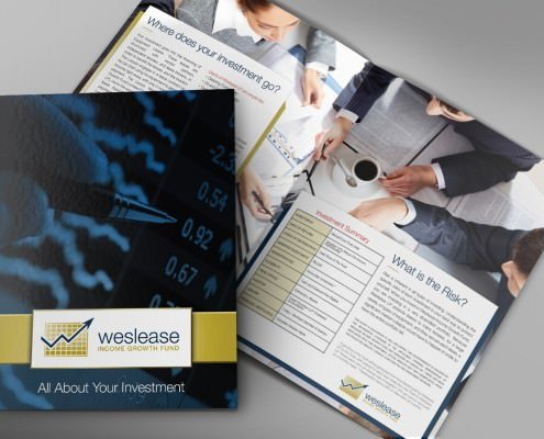 Edmonton Graphic Design | Weslease Investment Brochure