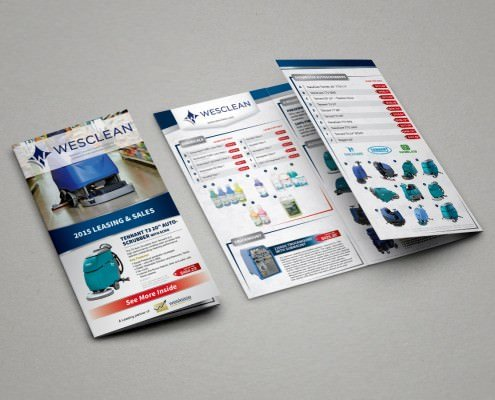 Edmonton Graphic Design | Weslease Partner Brochure Wesclean