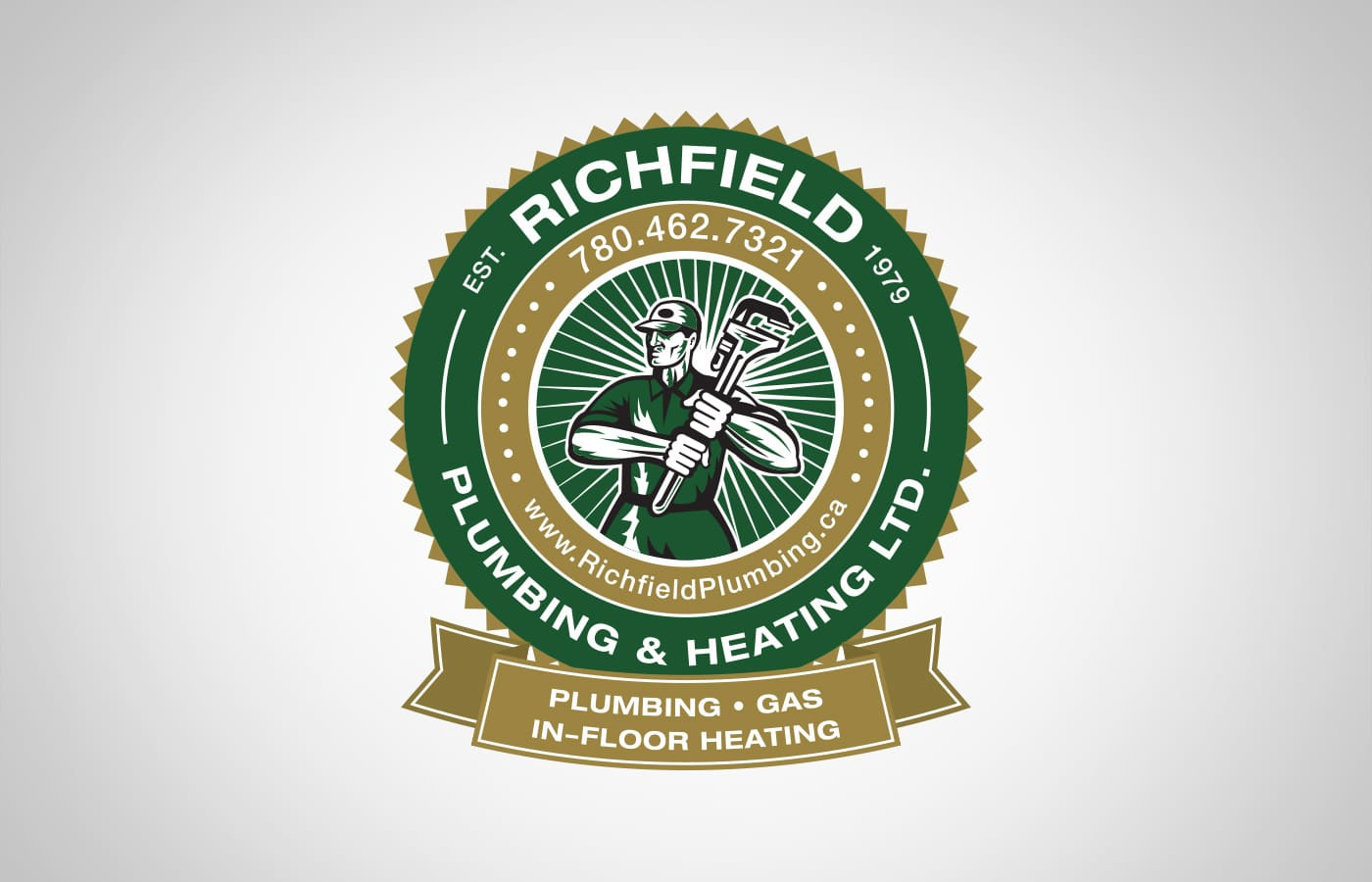 Edmonton Graphic Design | Richfield Plumbing and Heating Logo