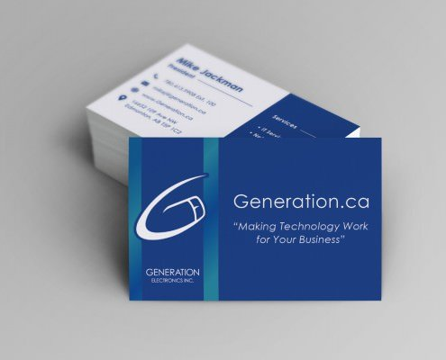 Edmonton Graphic Design | Generation Electronics Business Card