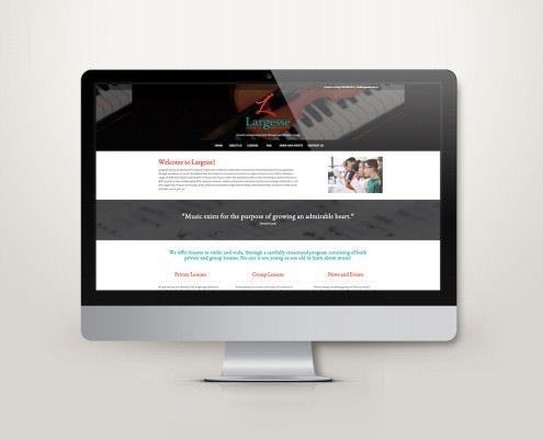 Edmonton Website Design | Largesse School of Musical Arts Website