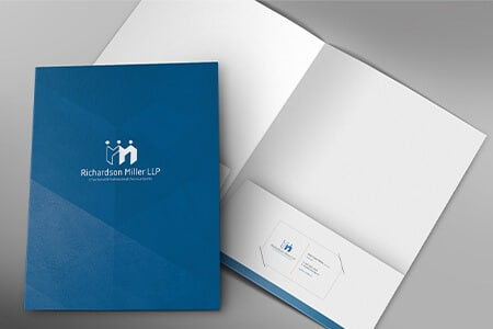 branded accounting firm presentation folders