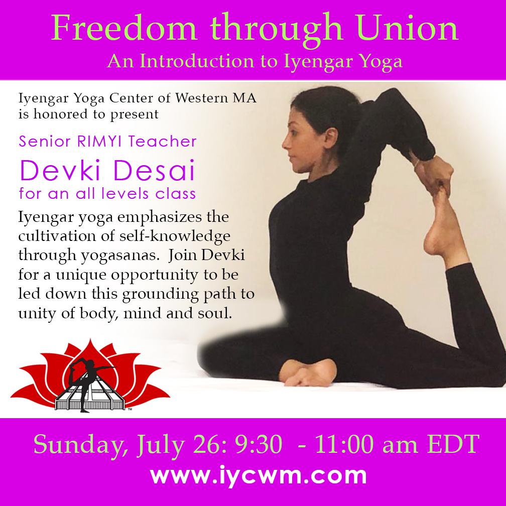An Introduction to Iyengar Yoga with Devki Desai