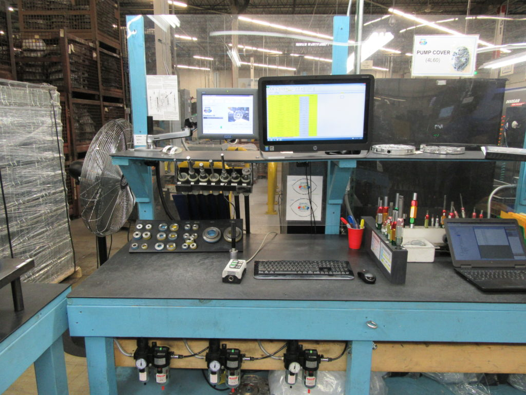 Air Gaging LLC measuring system using Stotz MRA computer