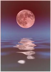 Hindi poetry on memories by MrsKhallas-Reflection of moon bringing back memories