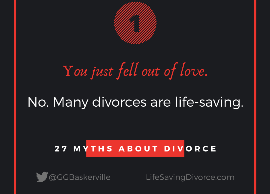 Myth 1: 95% of Divorces are for Falling Out of Love