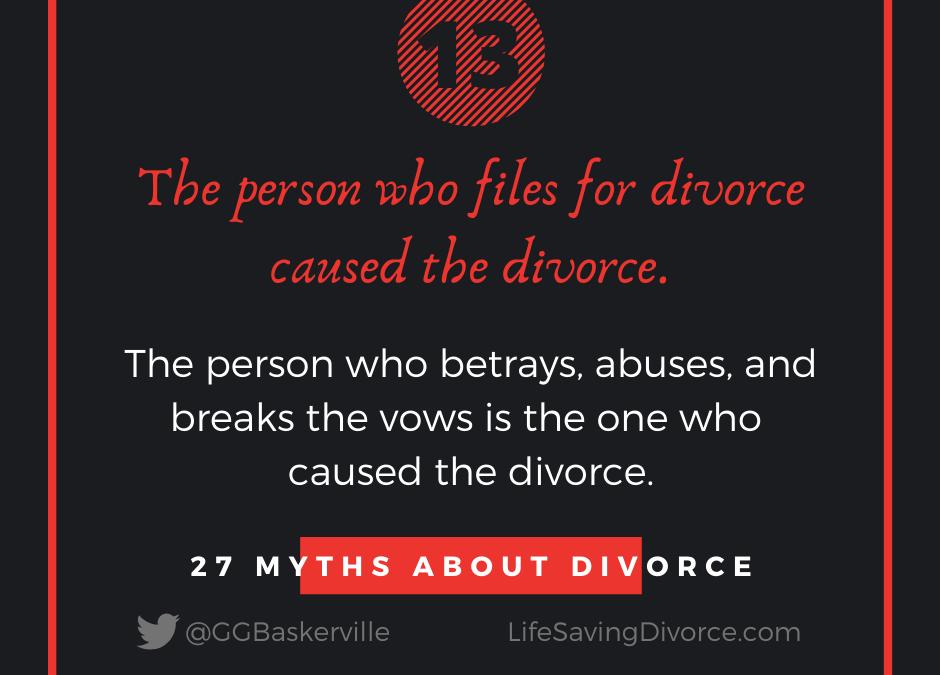 Myth 13 of 27 Myths of Divorce