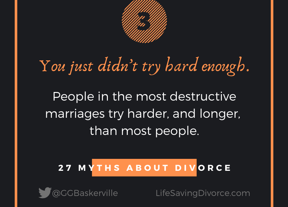 Myth 3 of 27 Myths of Divorce