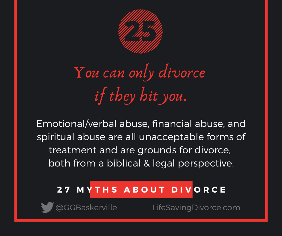 Myth 25: You Can Divorce Only If They Hit You