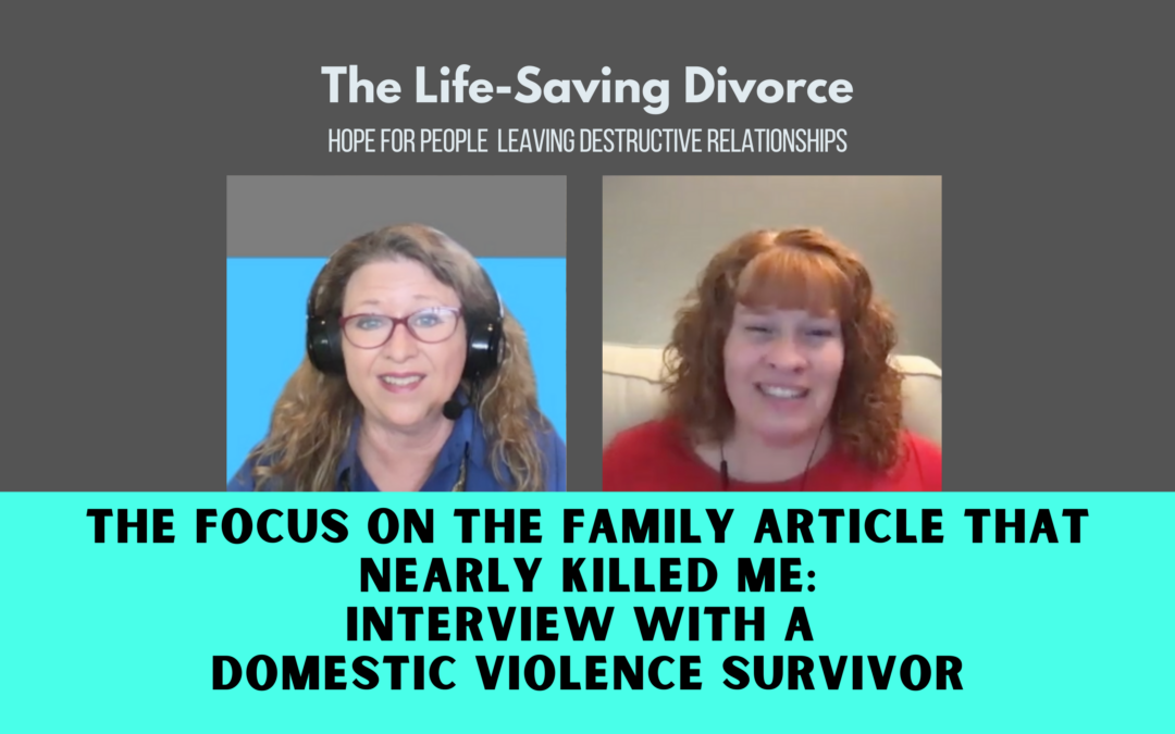 How a Focus on the Family Divorce-and-Kids Article Nearly Killed Me