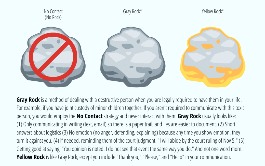 """What is Gray Rock, Yellow Rock, and """"No Contact""""? [INFOGRAPHIC]"""