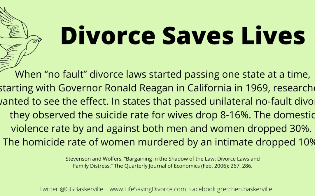 Divorce Saves Lives