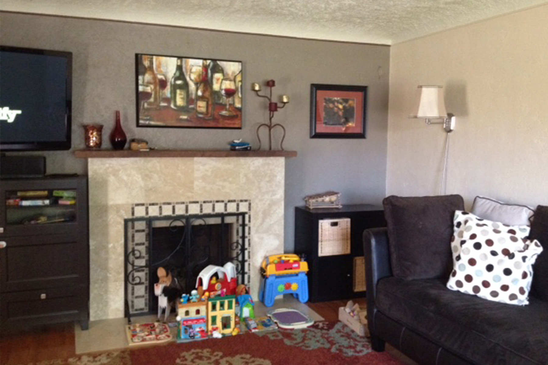 Before-Holly St Living Room 6