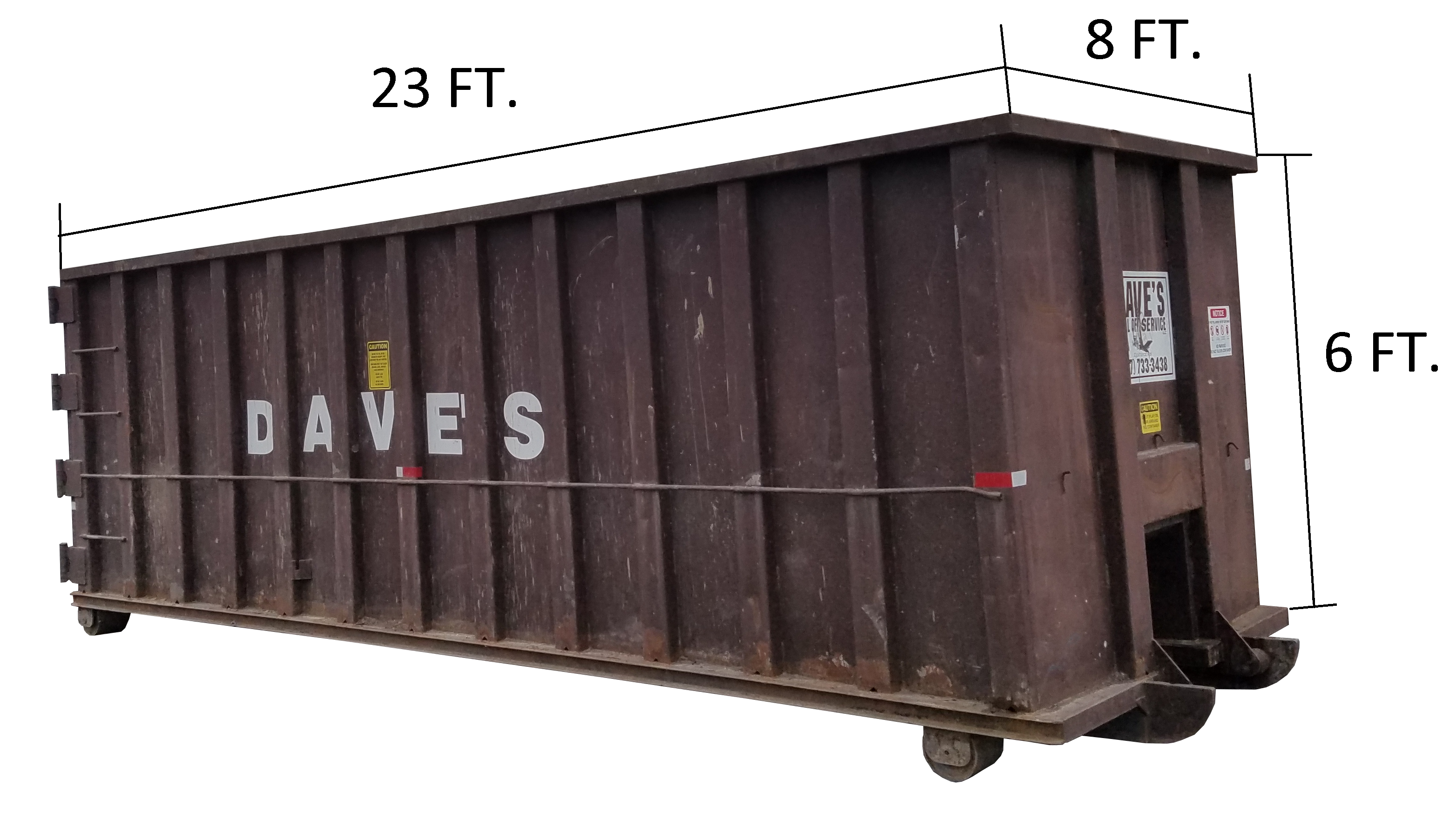 This is how our 40 yd. dumpster looks.