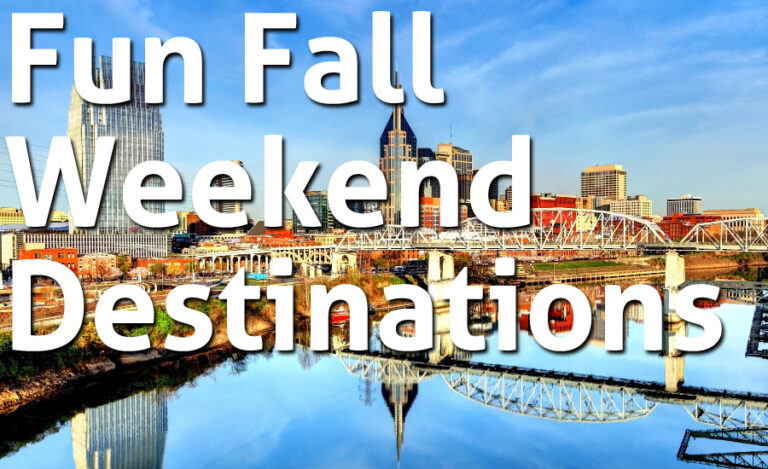10 Fun Fall Weekend Destinations Across the United States