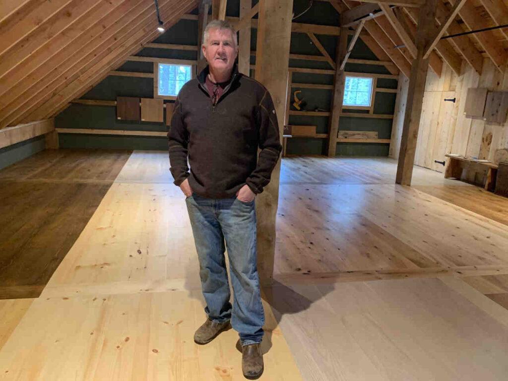 Vonderosa Wide Plank Flooring Barn Showroom New Hampshire