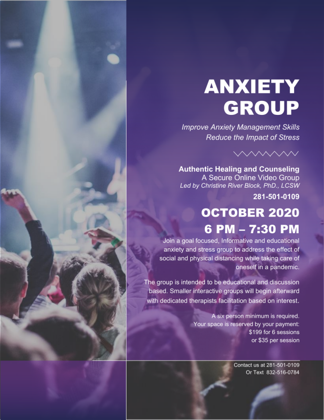 FROM ANXIETY TO PEACE Group