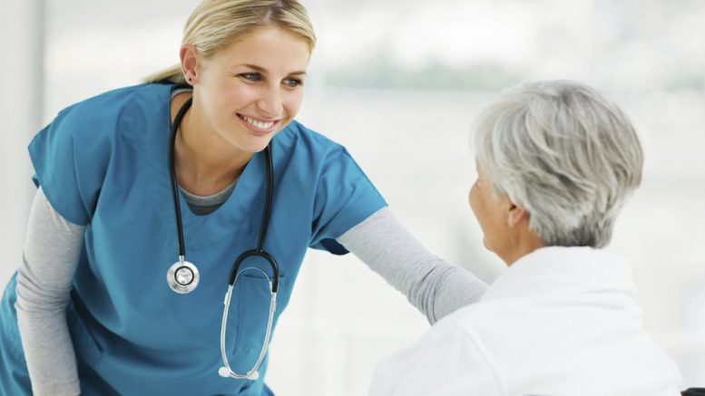 Hospice Nurse and Patient