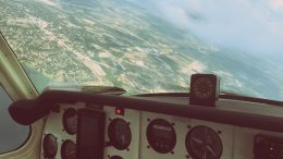 Flying in Airplane Cockpit