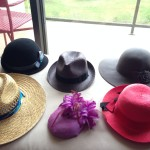 A few of my hats, staged.