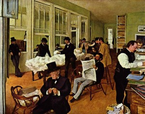 The Cotton Exchange - Edgar Degas